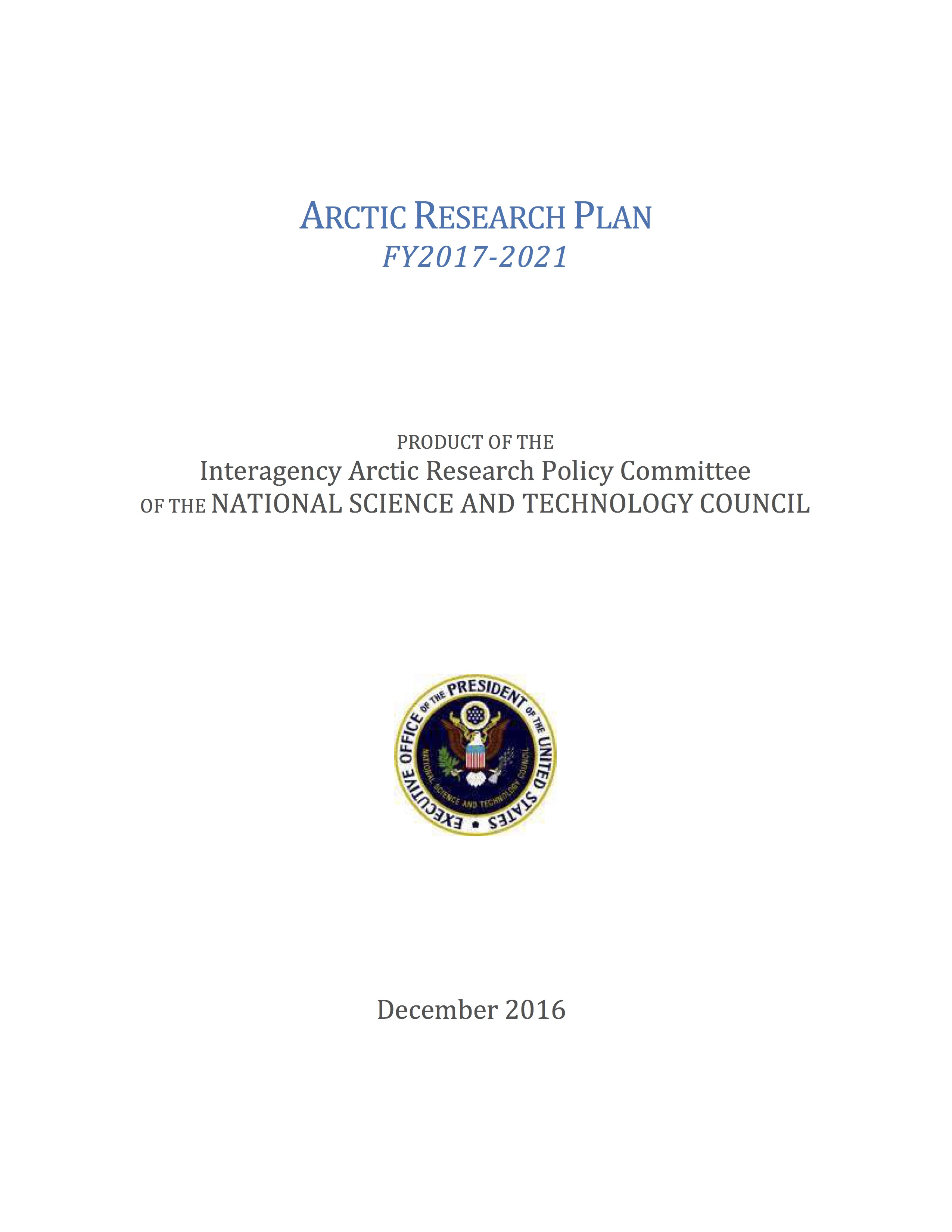 Arctic Research Plan